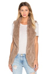 Heartloom Michi Rabbit Fur Vest Taupe