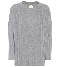 Jardin Des Orangers Ribbed Wool And Cashmere Sweater Grey