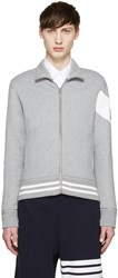 Moncler Gamme Bleu Grey Zip Up Sweater