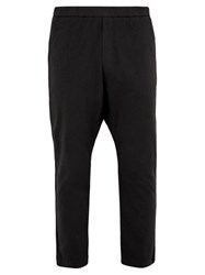 Barena Venezia Drawstring Waist Cotton Blend Trousers Black