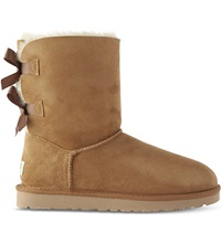 Ugg Bailey Bow Sheepskin Boots Brown
