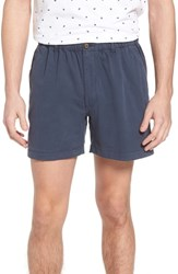Vintage 1946 Snappers Elastic Waist 5.5 Inch Stretch Shorts Navy