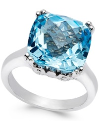 Macy's Sky Blue Topaz Cocktail Ring In Sterling Silver 10 Ct. T.W.