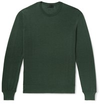 Charvet Cashmere And Silk Blend Sweater Green