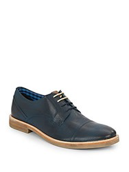 Ben Sherman Leon Perforated Leather Oxfords Navy