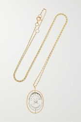 Pascale Monvoisin L'amour 9 Karat Gold Crystal Necklace One Size
