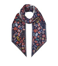 Claudie Pierlot Logo Patch Scarf Blue