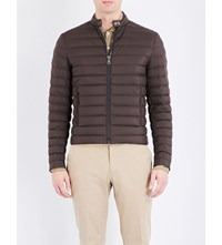 Ralph Lauren Purple Label Down Filled Quilted Shell Jacket Brown