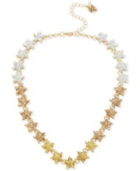 Betsey Johnson Gold Tone Ombre Glitter Star Collar Necklace