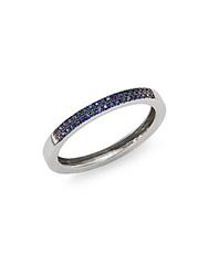 Bliss By Damiani Verette 2.12 Sapphire And 18K White Gold Band Ring White Gold Blue