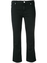 Love Moschino Cropped Flare Jeans Black
