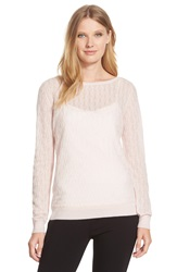 Classiques Entier Cashmere Textured Knit Sweater Regular And Petite Pink Hush