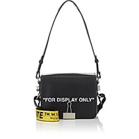Off White C O Virgil Abloh Binder Clip Small Leather Crossbody Bag Black