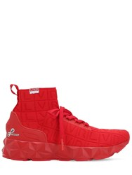 Emporio Armani Lvr Edition 3D Knit Sock Sneakers Red