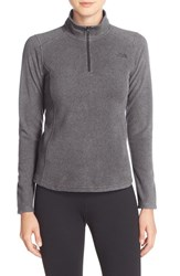 The North Face Women's 'Glacier' Quarter Zip Pullover Rabbit Grey Heather