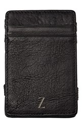 Cathy's Concepts 'Magic' Monogram Leather Wallet Grey Z