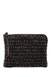 Frye Diana Stud Tablet Clutch Black