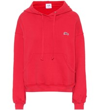 Re Done Logo Cotton Hoodie Red