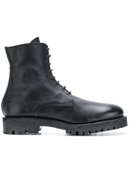 Guidi Military Style Boots Black