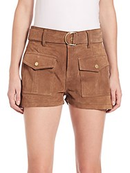Peserico Le Patch Pocket Suede Short Sigaro