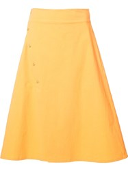 Tomas Maier Mid Length A Line Skirt Yellow Orange