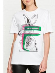 Mcq By Alexander Mcqueen Classic Bunny T Shirt White