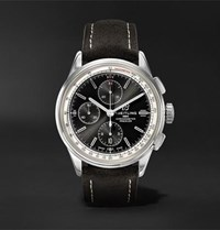Breitling Premier Chronograph 42Mm Stainless Steel And Nubuck Watch Black