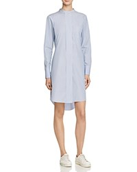 Theory Jodalee Taff Stripe Shirt Dress Blue White