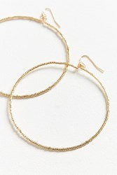 Urban Outfitters Neutral Beaded Hoop Earring Gold
