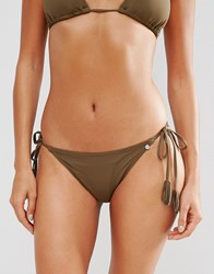 All About Eve Instinct Tie Bikini Bottom Khaki Green