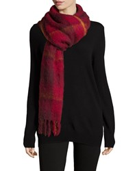 Marc By Marc Jacobs Blanket Plaid Knit Scarf Black