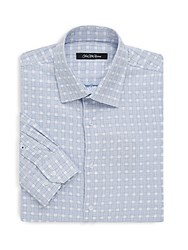 Saks Fifth Avenue Black Long Sleeve Cotton Check Shirt White Multi