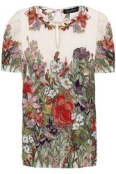 Jenny Packham Woman Embroidered Tulle Top Neutral