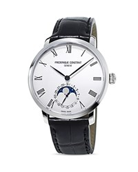 Frederique Constant Manufacture Slimline Moonphase Watch 42Mm Silver Black