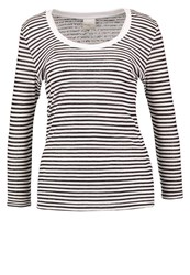 Selected Femme Sfsila Long Sleeved Top Snow White Black