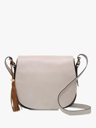Radley Painters Mews Leather Medium Flap Over Cross Body Bag Dove Grey