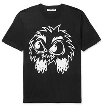 Mcq By Alexander Mcqueen Monster Rally Printed Cotton Jersey T Shirt Black