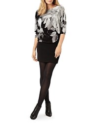 Phase Eight Becca Abstract Floral Knit Dress Dark Charcoal