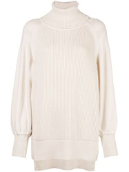Adeam Oversized Turtleneck Jumper White