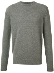The Elder Statesman Cashmere Crew Neck Jumper Grey