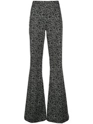 Christian Siriano Face Print Flared Trousers 60