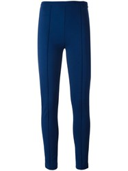 Twin Set Ribbed Detailing Leggings Blue