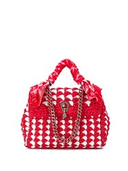 Ermanno Scervino Woven Style Tote Bag Red