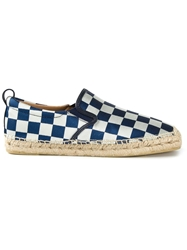 Marc By Marc Jacobs Checkered Espadrilles Blue