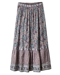 East Arya Tiered Maxi Skirt Smoke