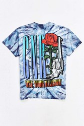 Urban Outfitters Guns N' Roses Tie Dye Illusion Tour Tee Blue Multi