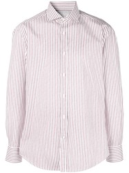 Brunello Cucinelli Striped Print Shirt Red
