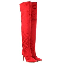 Gianvito Rossi Exclusive To Mytheresa.Com Satin Over The Knee Boots Red