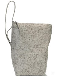 Rick Owens Bucket Shoulder Bag Grey