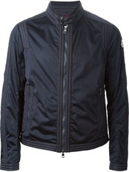 Moncler Perforated Ribbed Jacket Blue